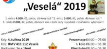 Plakát závody Veselá