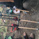 nastražený rybářský prut (2)
